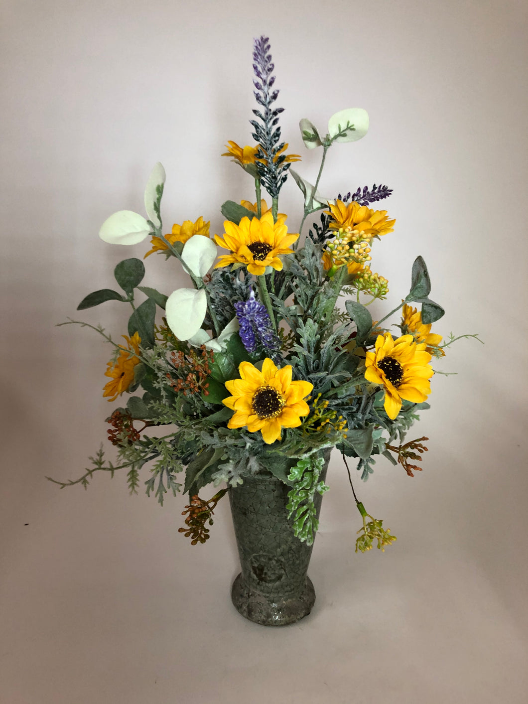 Sunflower & Lavender in Vase