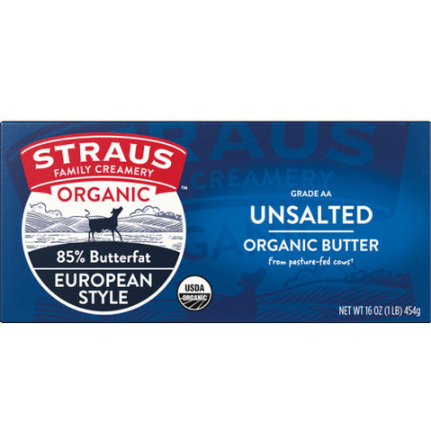 Organic Unsalted Sweet European Style Butter
