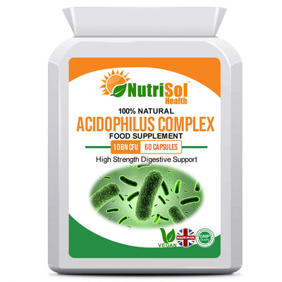 Acidophilus Complex 10 Billion CFU 60 Capsules - healtha-life