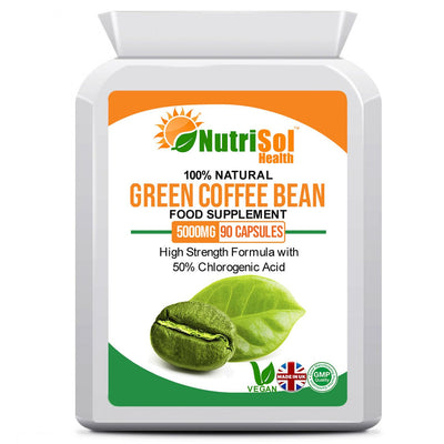 Green Coffee Bean Extract 5000 mg 90 Capsules - healtha-life