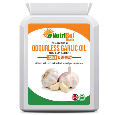 Odourless Garlic Oil Extract 200mg 90 Softgels - healtha-life
