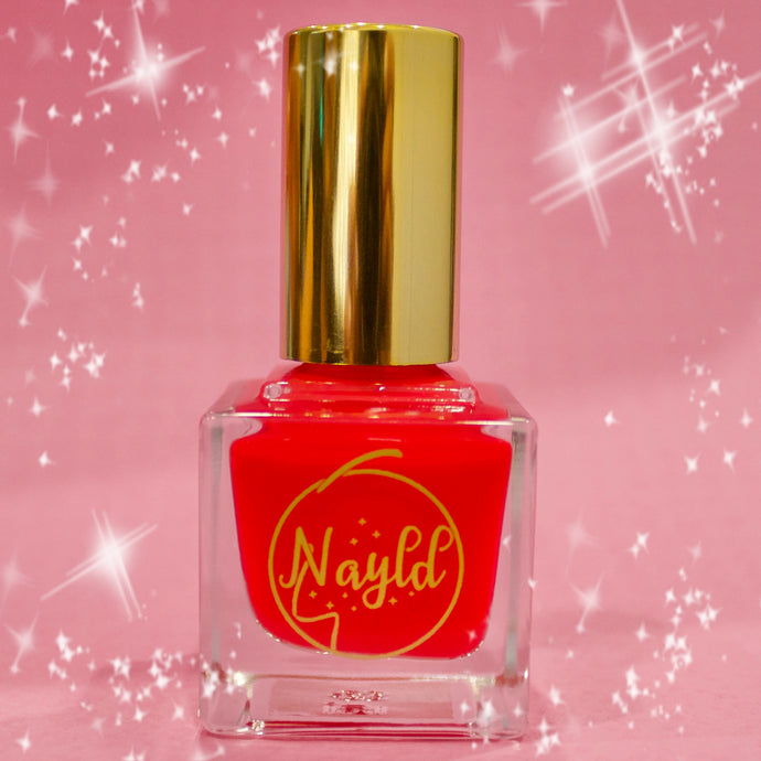 red orange fire red vegan non toxic nail polish safe for kids and pregnancy, made without chemicals
