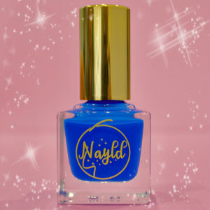 neon blue, vegan nail polish  non toxic  safe for kids and pregnancy, made without chemicals. Grow your nails & strengthen your nails., cruelty-free