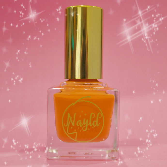 orange polish Vegan non toxic nail polish that is safe for kids and pregnancy, made without chemicals. Grow your nails & strengthen your nails. cruelty-free set