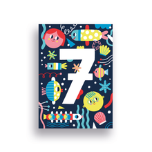 Load image into Gallery viewer, Birthday Card // Number 7