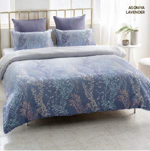 D'Decor Esteem Collection Cotton King Size Bedsheet (Lavender, 2.74 x 2.74 m)