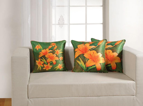 "Swayam Deco Printed Vibrant Color 2 Piece Cushion Cover Set - 16""x16"", Multicolor(DCC162-1153)"