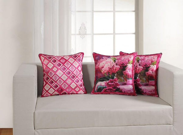 "Swayam Deco Printed Vibrant Color 5 Piece Cushion Cover Set - 16""x16"", Multicolor (DCC165-1158)"