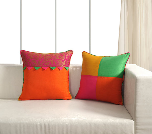 Swayam Assorted Brocket Cushion Cover Set of 5