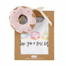 Load image into Gallery viewer, onesie & rattle-donut