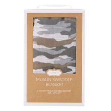 Load image into Gallery viewer, muslin swaddle blanket-camo
