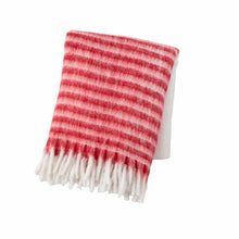 Load image into Gallery viewer, red & white stripe throw