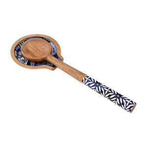 indigo spoon rest set
