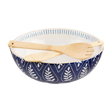 Load image into Gallery viewer, indigo serving bowl set