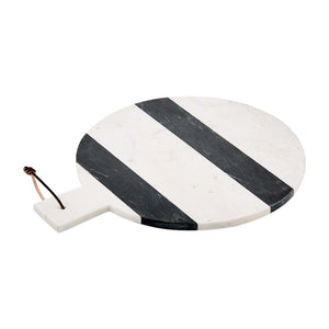 large round stripe marble board