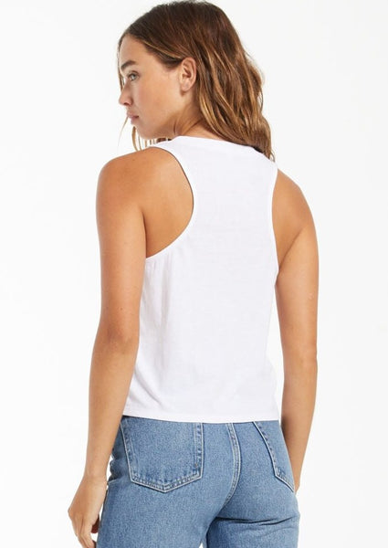 pocket racer crop tank