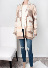 Load image into Gallery viewer, camo sweater coat