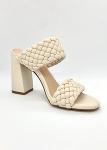braided strap block heel sandal