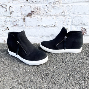knit wedge sneaker