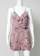 Load image into Gallery viewer, mauve floral romper