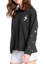 Load image into Gallery viewer, bolt & stars fleece lounge top