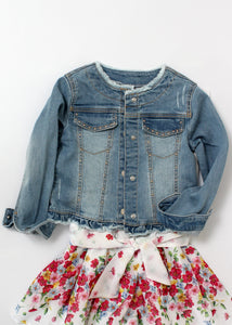 studded denim jacket-girls