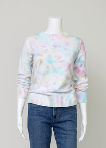pastel tie dye cotton sweater
