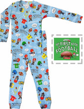 Load image into Gallery viewer, Toddler pj set & book - 1st football