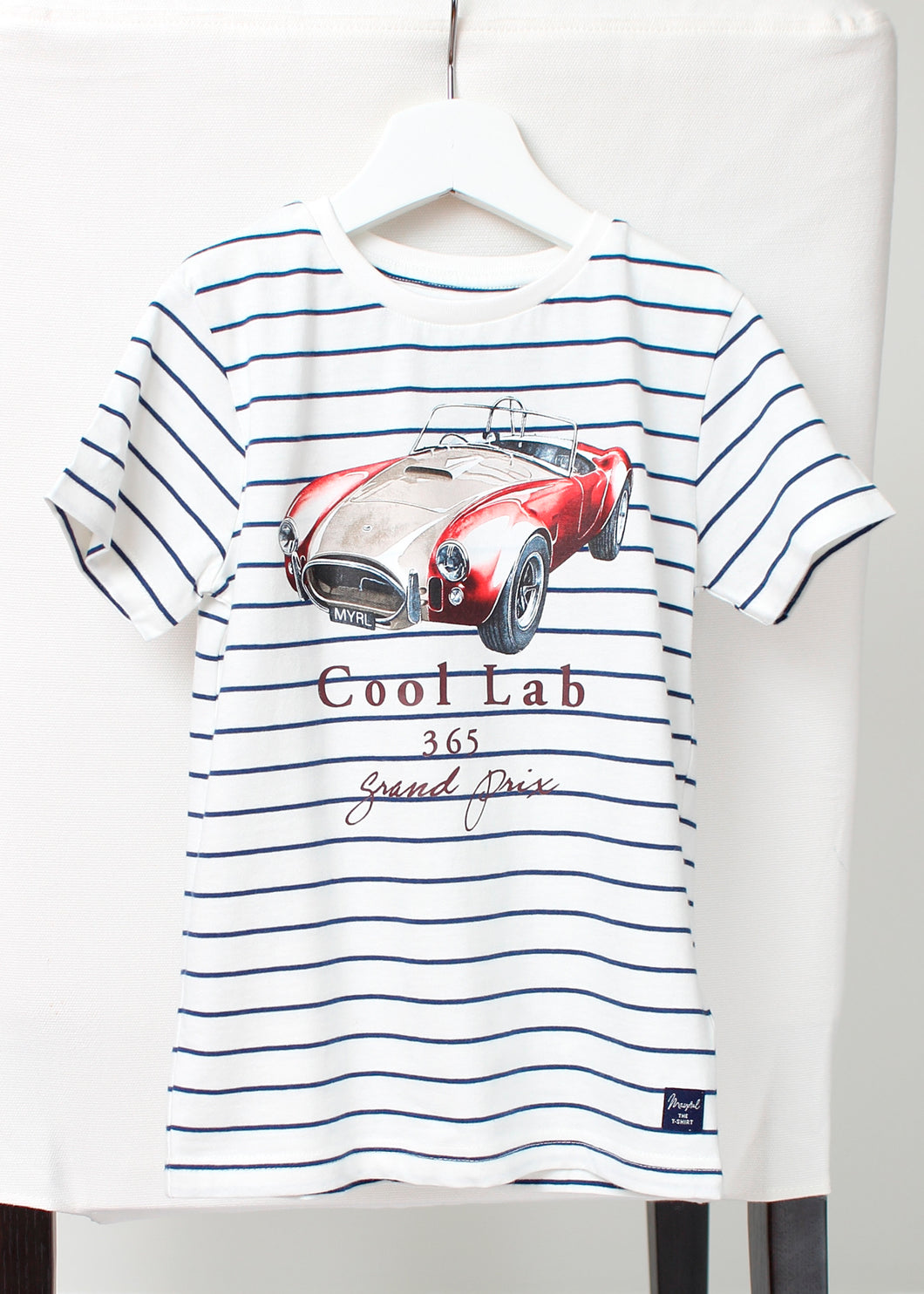 stripe short sleeve car tee-boys