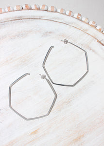 hexagon hoop - 2 inch