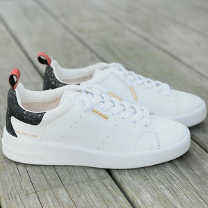 sneaker with black trim
