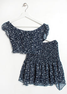 2 piece smock top & skirt set - girls