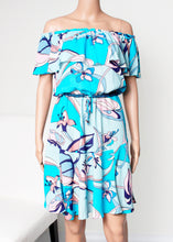 Load image into Gallery viewer, off shoulder print dress