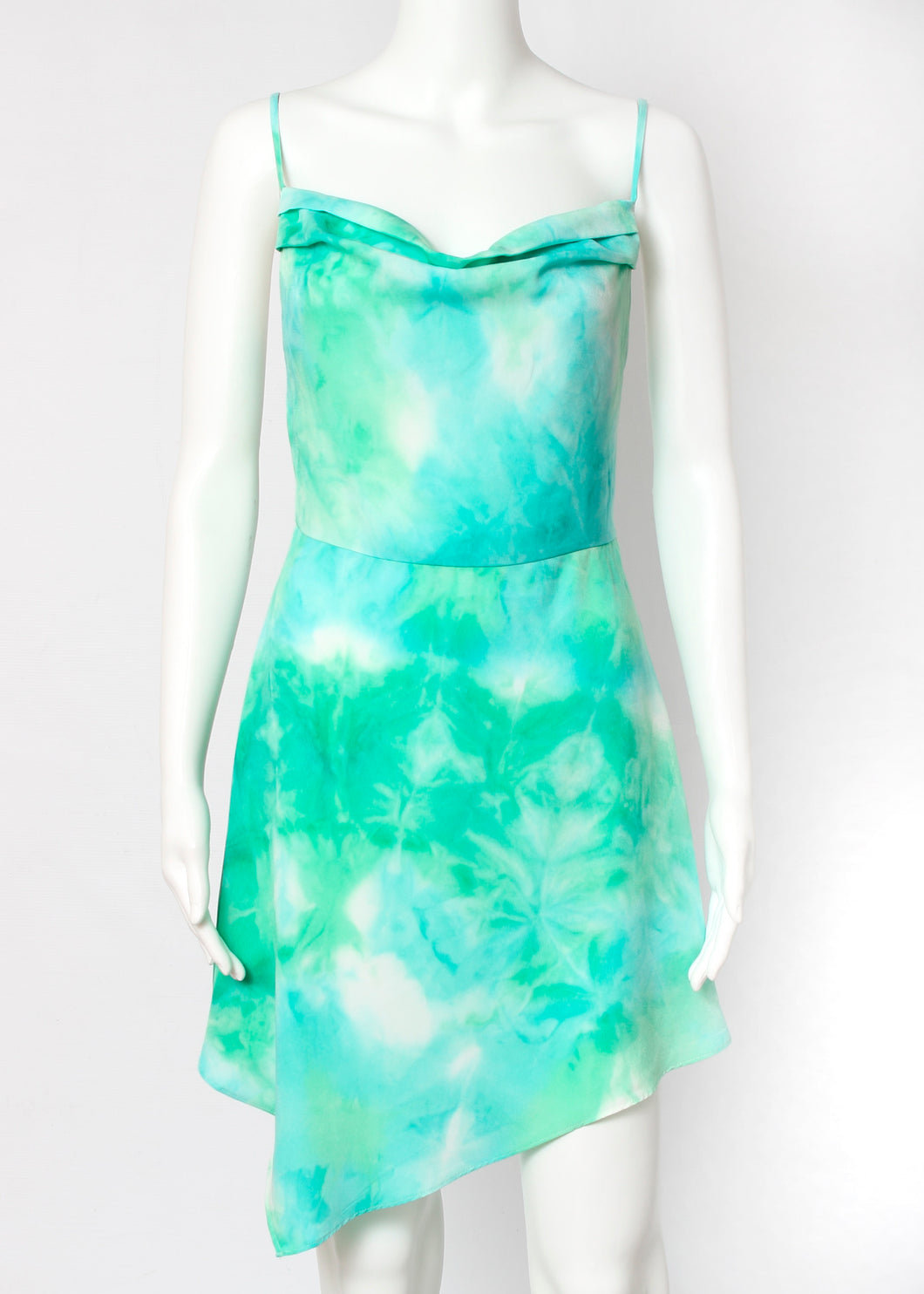 asymmetrical tie dye dress