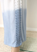 Load image into Gallery viewer, dip dye crochet trim pant