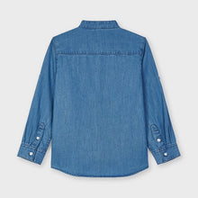 Load image into Gallery viewer, boys long sleeve denim shirt