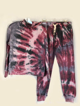 Load image into Gallery viewer, girls tie dye jogger - burgundy