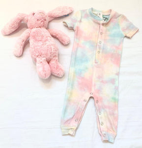 tie dye cozy coverall-baby girl