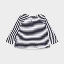 Load image into Gallery viewer, baby stripe long sleeve babydoll tee