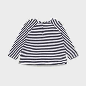 baby stripe long sleeve babydoll tee