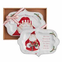 Load image into Gallery viewer, boxed platter-santa