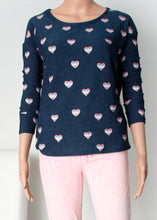 Load image into Gallery viewer, hearts long sleeve cozy top