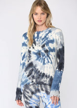 Load image into Gallery viewer, tie dye distressed sweater