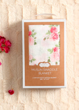 Load image into Gallery viewer, rose swaddle blanket