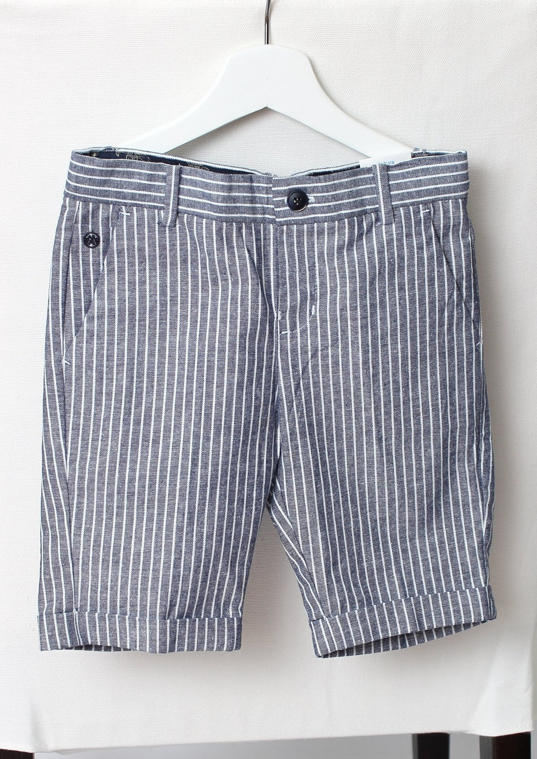 stripe linen shorts-boys