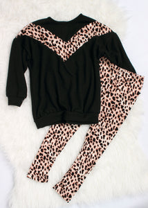 girls leopard print legging