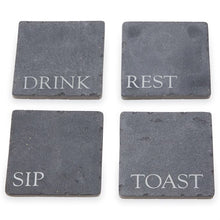 Load image into Gallery viewer, slate coaster set - 4pc