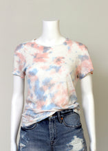 Load image into Gallery viewer, short sleeve linen tee-tie dye
