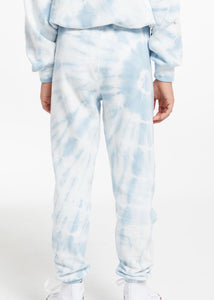 girls tie dye french terry jogger