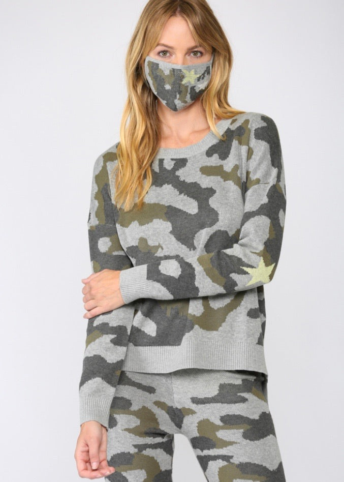camo sweater set